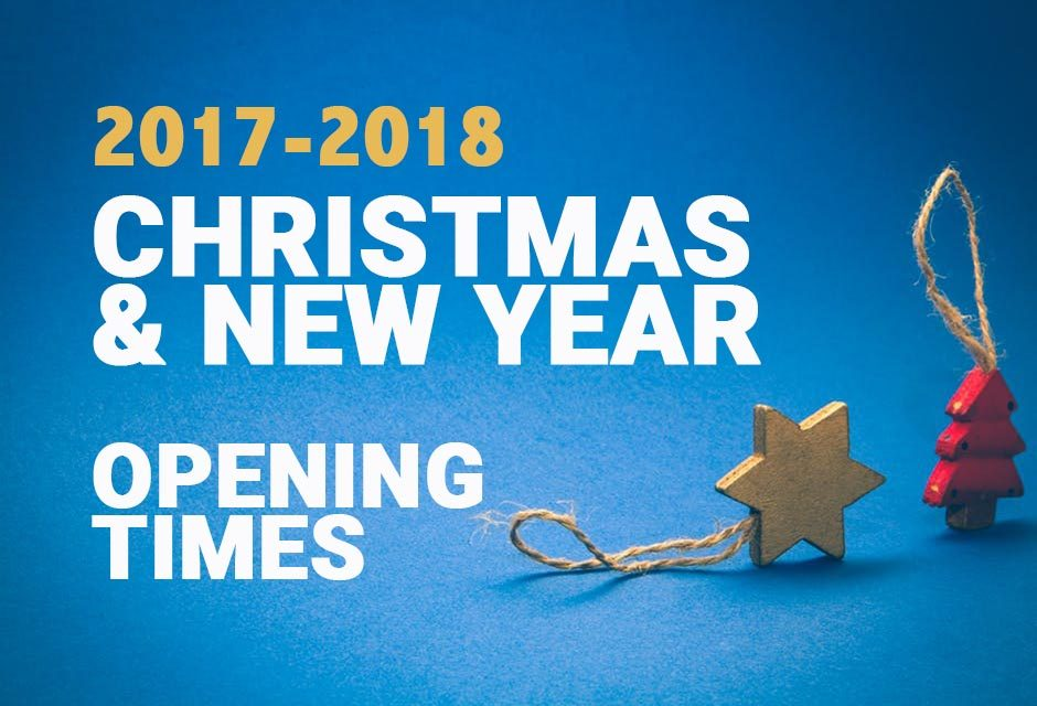 Christmas Opening Hours 2017-2018