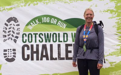 Georgina completes Cotswold Challenge for Cancer Research UK