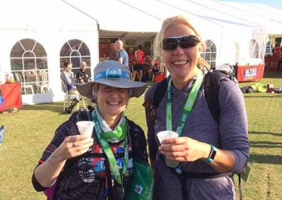 Cotswold Challenge - Georgina and Michelle at finish