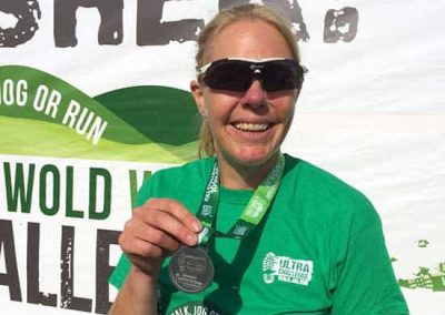 Cotswold Challenge - Georgina with her finisher's medal