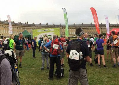 Cotswold Challenge - start line in front of Bath Royal Crescent