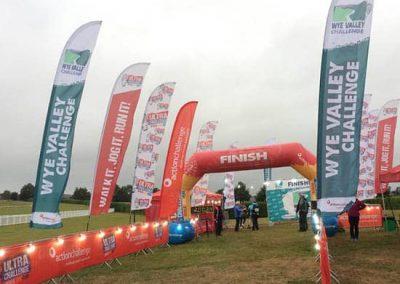 Wye Valley Challenge - finishing line