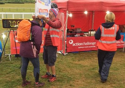 Wye Valley Challenge - receiving finishing medal